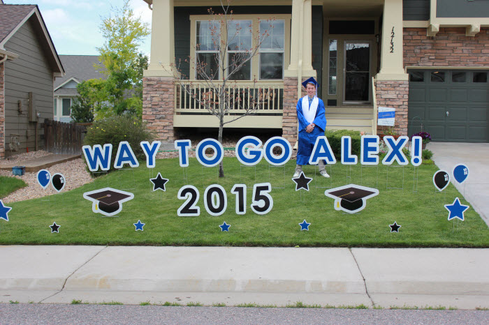 Legend High School Graduation Yard Greetings Alex