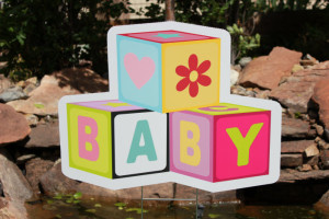 Baby Blocks Parker Yard Greetings