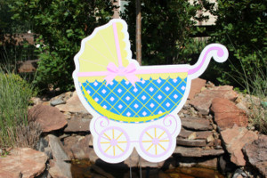 Baby Carriage Parker Yard Greetings