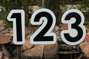 Parker Yard Greetings Numbers