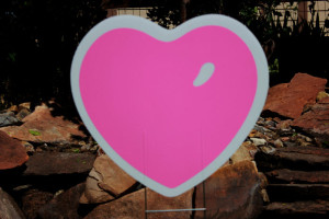 Valentines Day Pink Heart Parker Yard Greetings