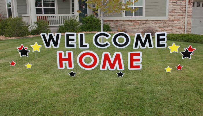 Welcome Home Parker Yard Greetings