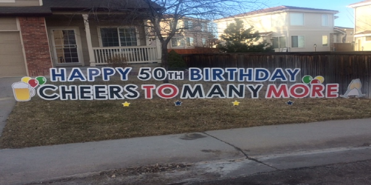 PYG 50th Birthday Yard Greeting